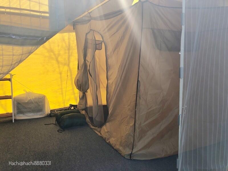 らかん高原オートキャンプ場のグランピングの寝床
