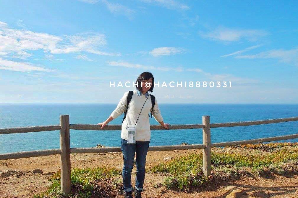 ロカ岬で記念撮影