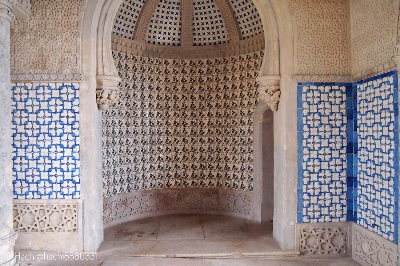 ペーナ宮殿のアズレージョ