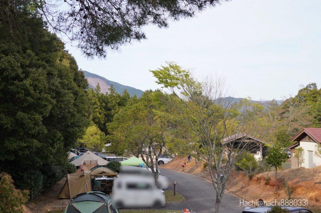 豊田湖畔キャンプ場のオートサイトA入口