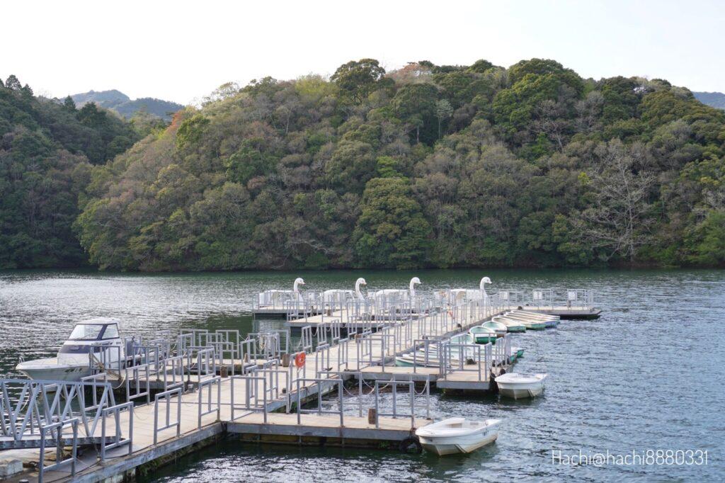 豊田湖畔キャンプ場のボート桟橋