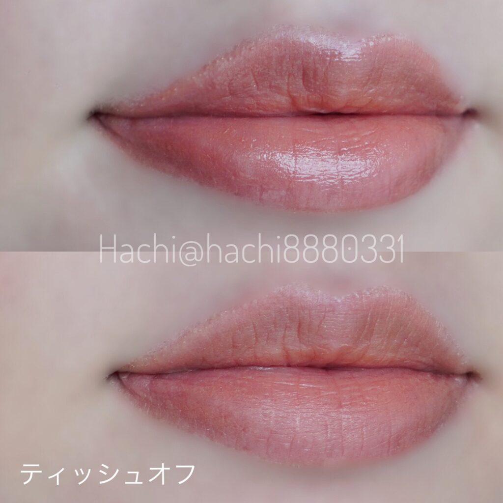 KATEのリップモンスター 03陽炎を唇に塗った画像